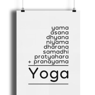 8 Limbs of Yoga Math Puzzle Poster Giclee Art Print Matte Finish
