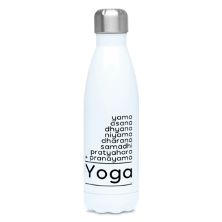 8 Limbs of Yoga Math Puzzle Water Bottle 500ml Stainless Steel