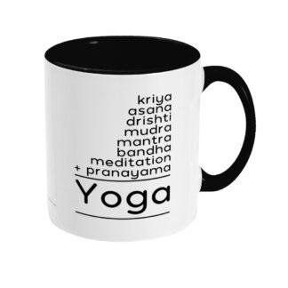 Kundalini Yoga Elements Math Puzzle Ceramic Mug(Y_ELE_MATH_MUG_TT_BLK)