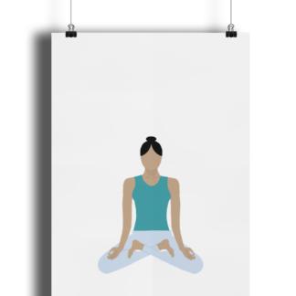 Yoga-Pose-Poster-Print-Giclee-Art-Print-Matte-Finish-Lotus-Pose