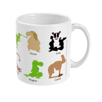 Animal Yoga Poses Mug