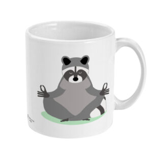 Yoga Racoon Mug Yoga Coffee Mug