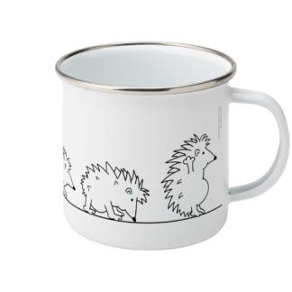 Yoga Hedgehog Mug Hedgehog Evolution Enamel Yoga Coffee Mug