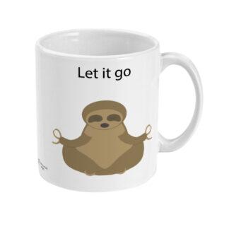 Yoga Sloth Mug Let it go