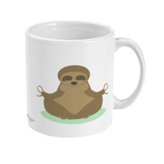 Yoga Sloth Mug on Yoga Mat Yoga Coffee Mug