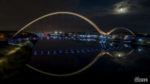 Infinity Bridge Stockton by drone