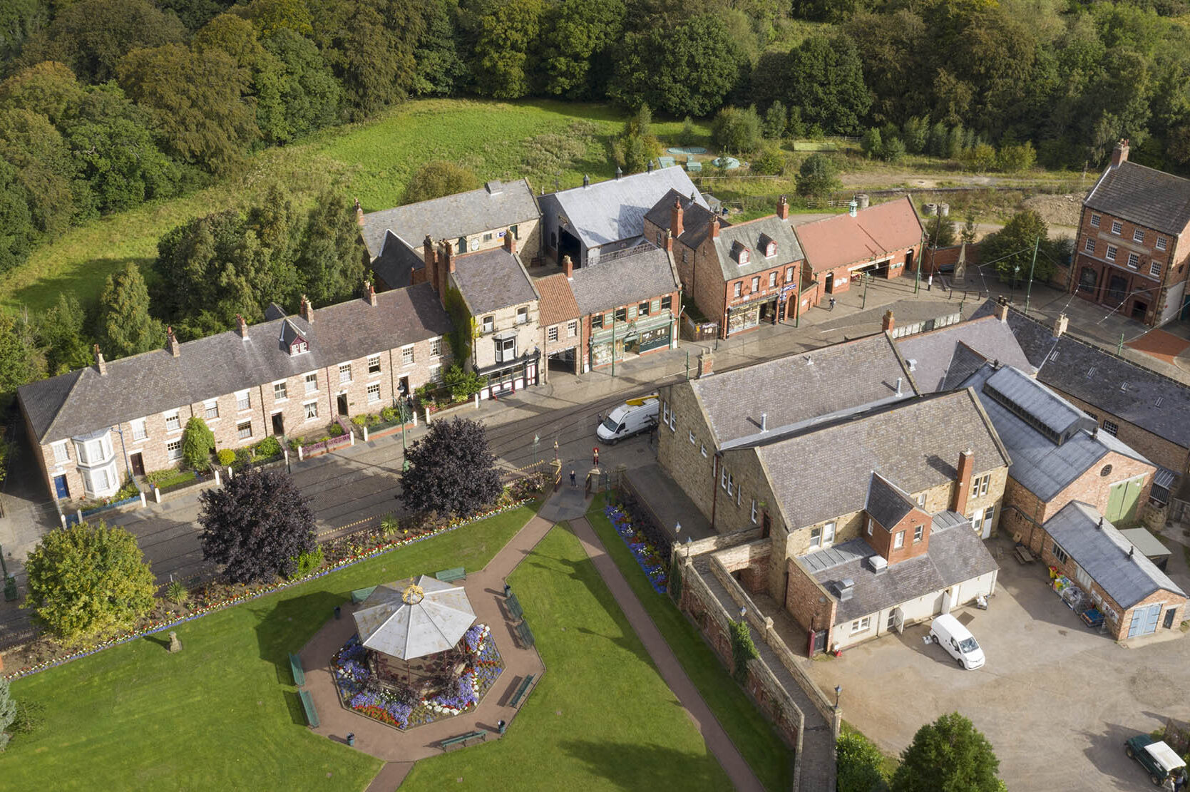 Licensed drone operator in Durham. Beamish from above