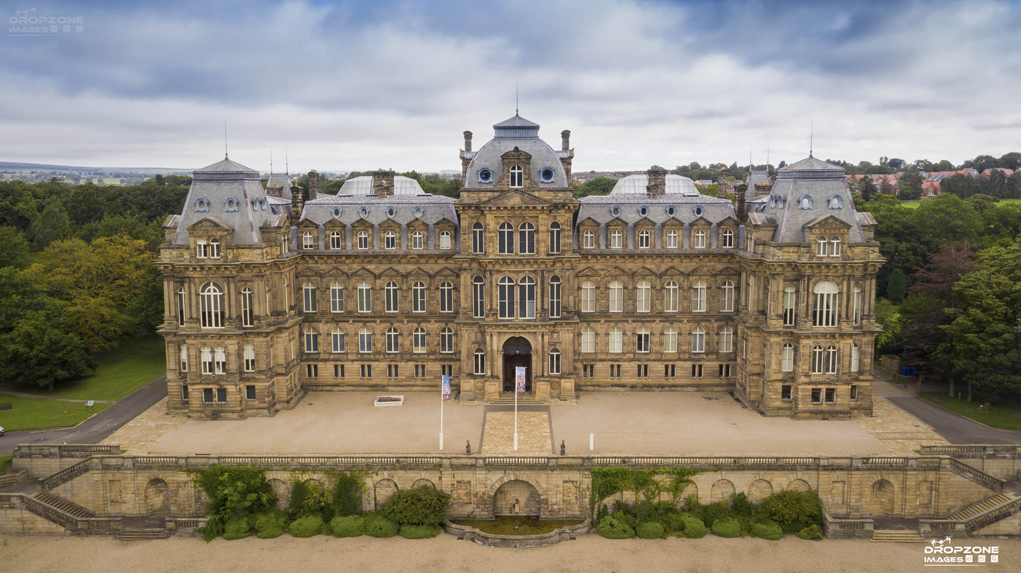 Bowes museum drone operator pilot hire Photography