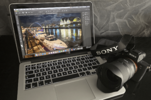 Drone operator North East with Sony A7iii camera for ground filming