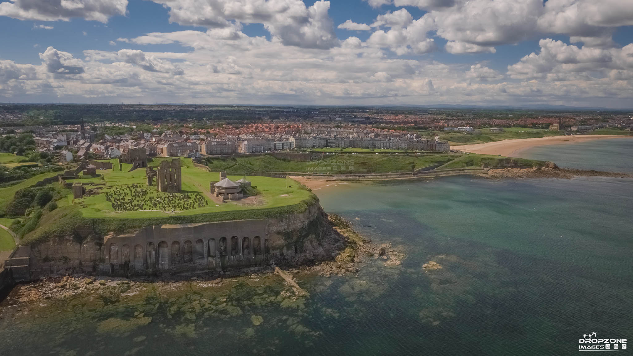 Tynemouth priory photographed by Newcastle drone operator