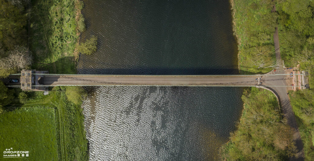 Union bridge. Licensed drone operator Berwick