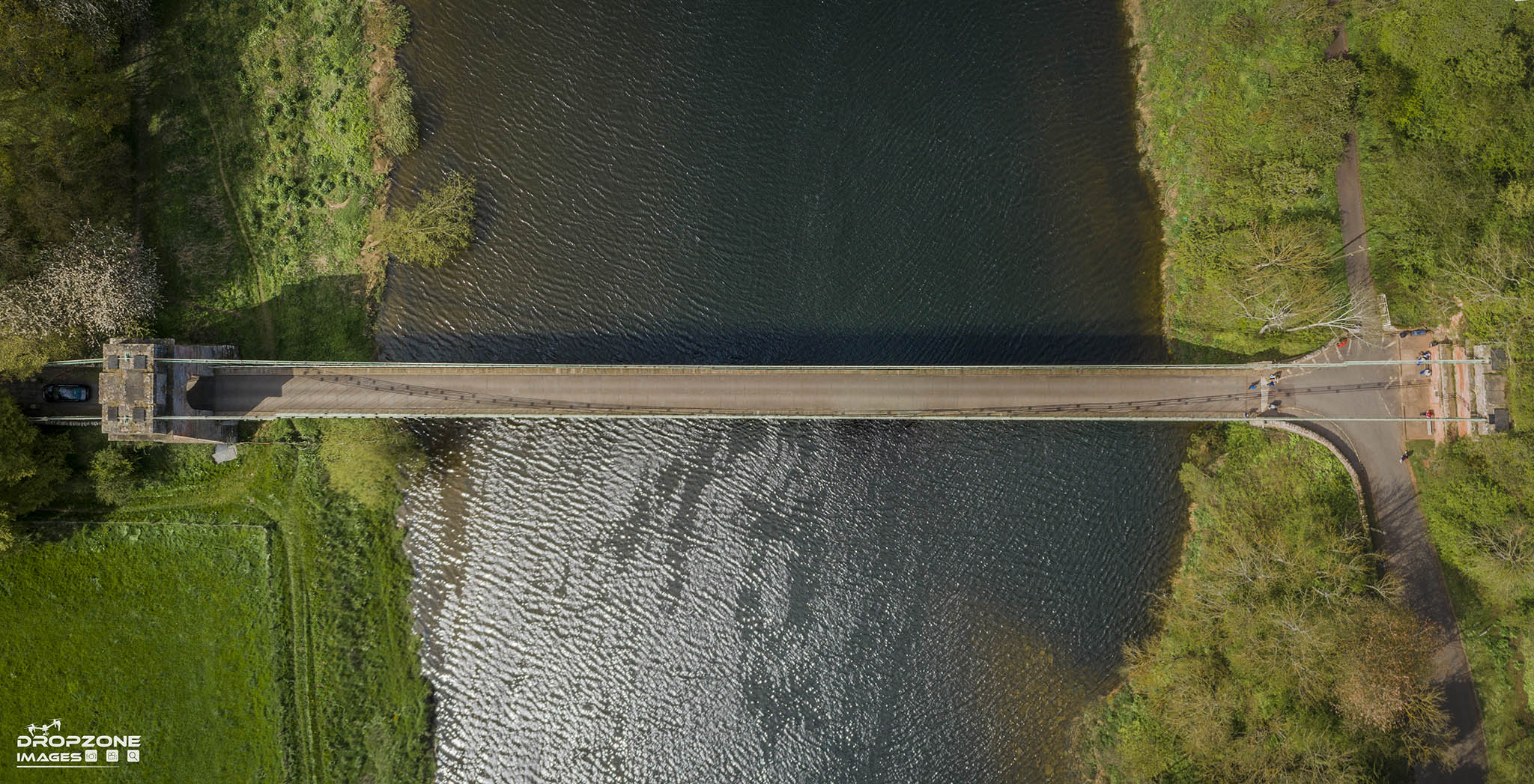 Union bridge. Licensed drone operator Berwick
