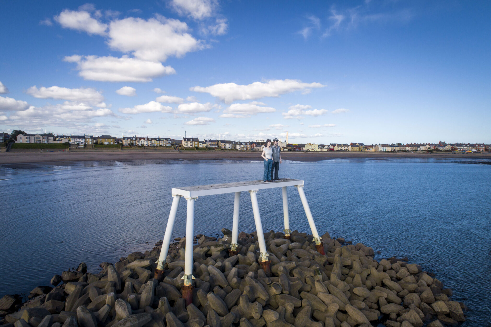 CAA Drone operator Newbiggin by the sea, Northumberland hire pilot aerial videography