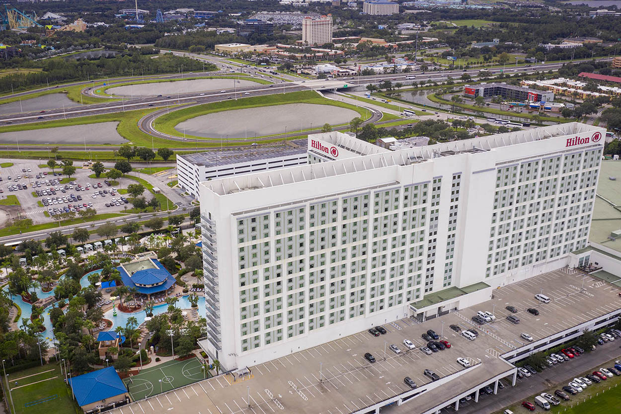 Hilton in Florida. Drone images worldwide