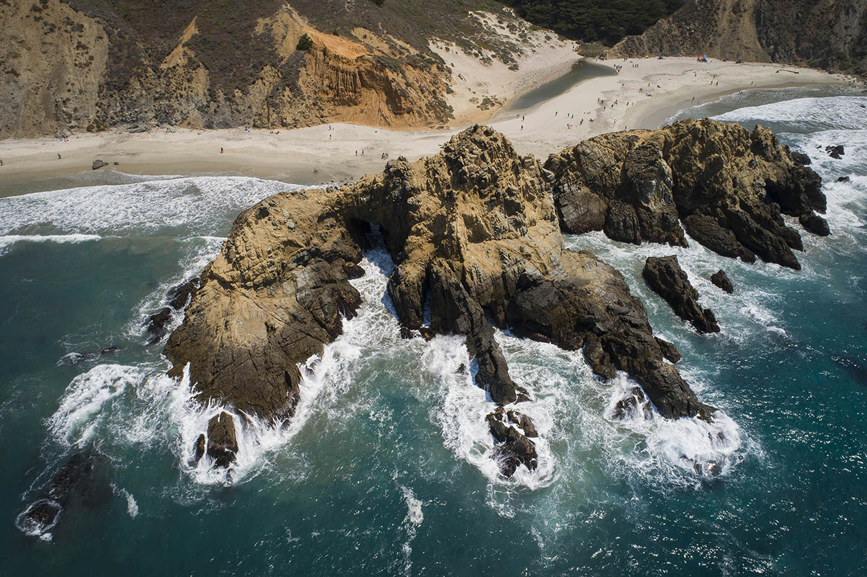 California coast by drone. What a holiday