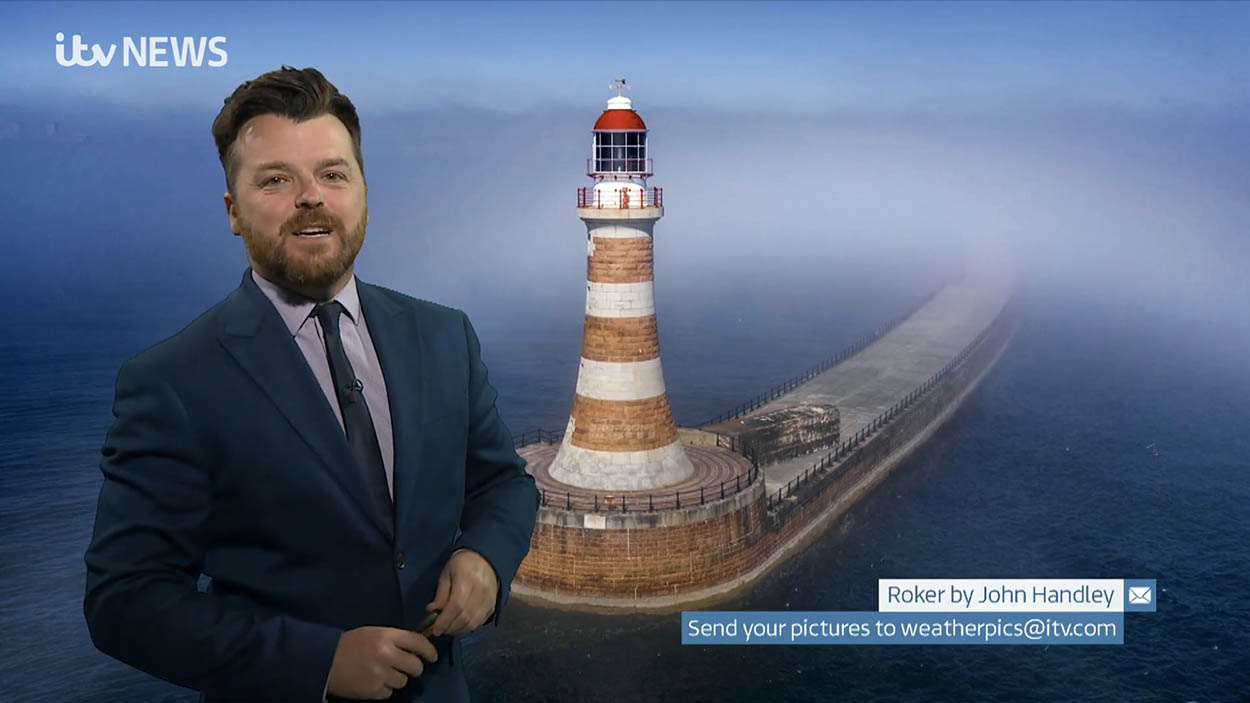 Roker Pier on Tyne Tees weather