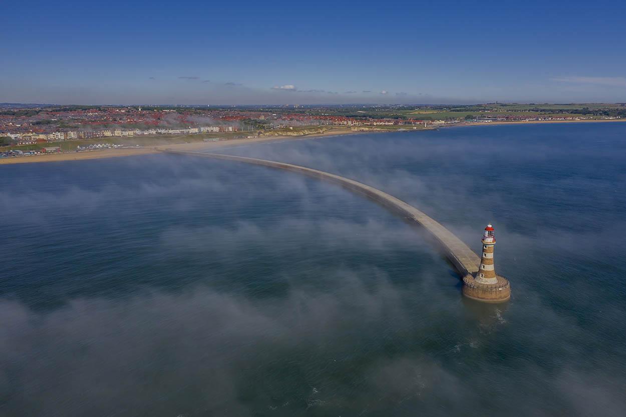 Roker Pier from sea