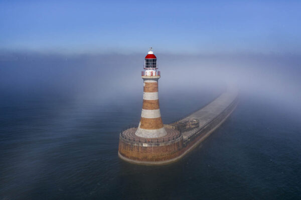 Rover pier. Award winning photography by drone. North East best drone operator