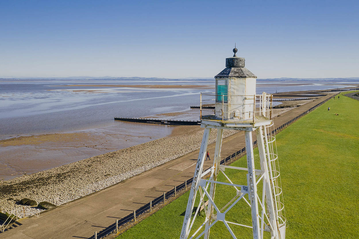 Silloth in the North West. Drone photography
