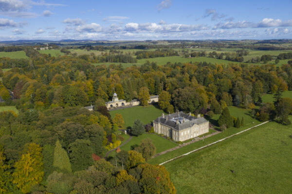 Wallington Hall, National Trust. Image taken by authorised drone operator in Northumberland. Best drone services in the North East
