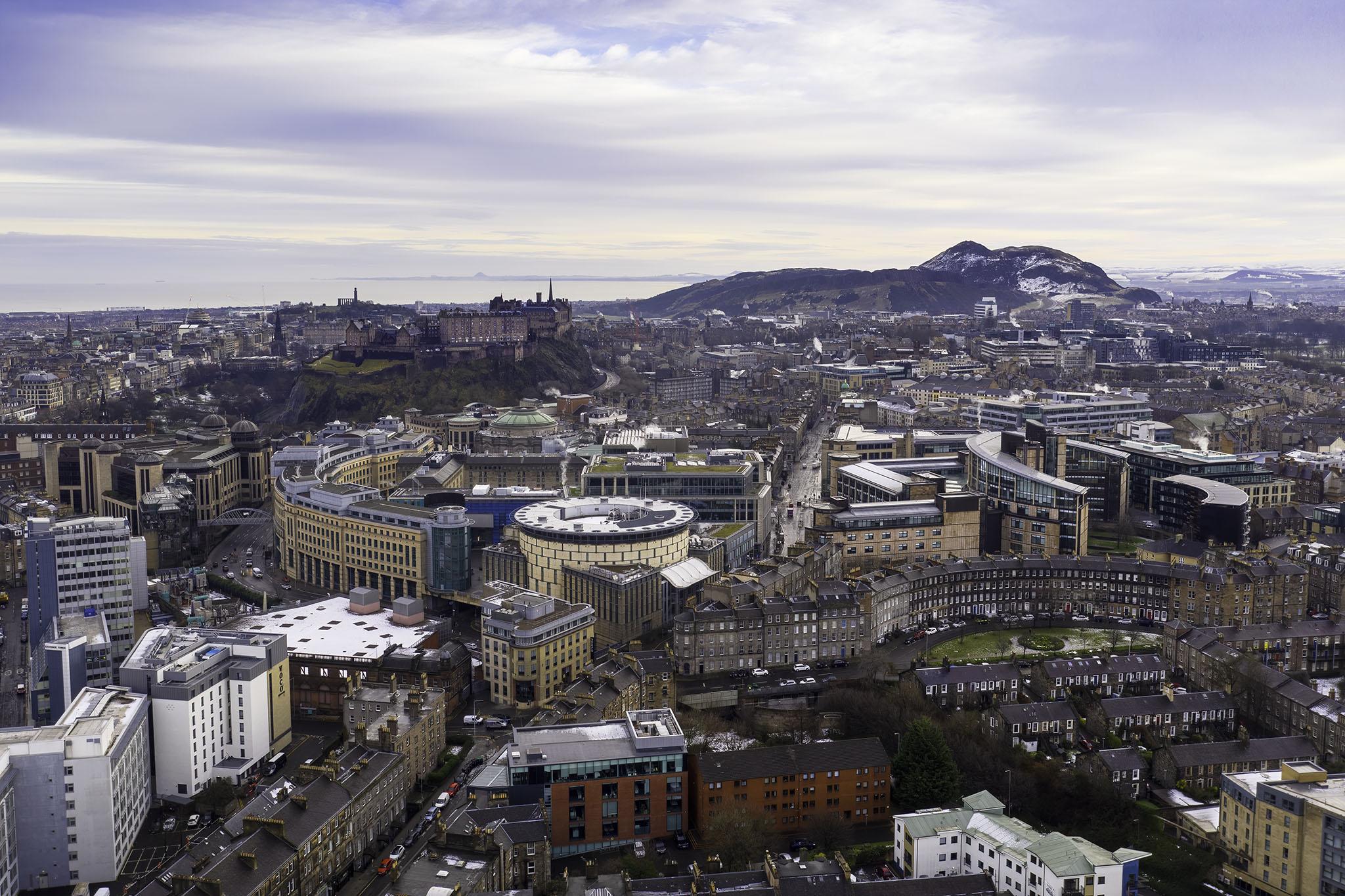 drone image Edinburgh