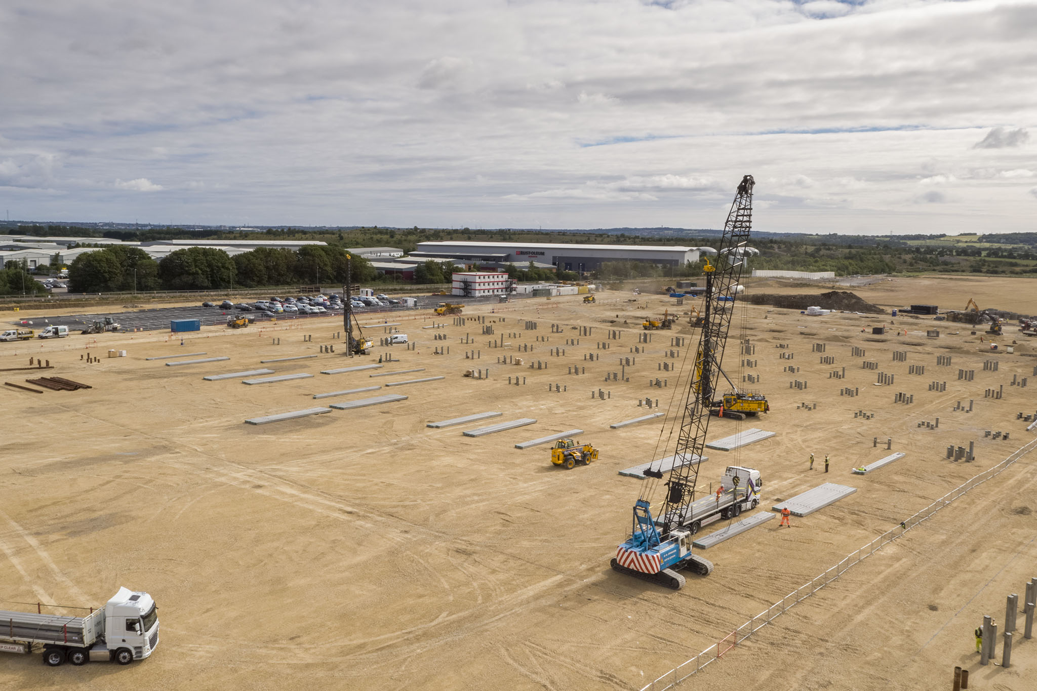 Construction sites Newcastle drone