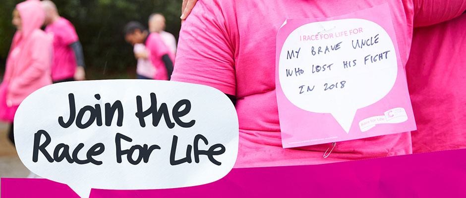 Make a date to join The Race for Life in Finsbury Park 21st/22nd July 2019