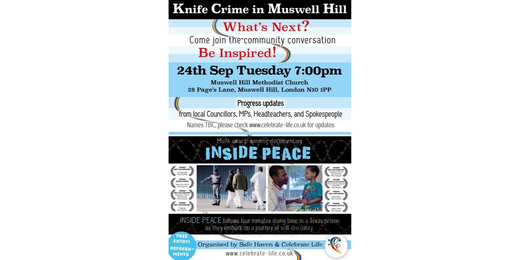 Stop Knife Crime in Muswell Hill: Film Screening 7pm Tuesday 24th September
