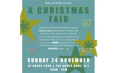 Under The Arches Presents 'A Christmas Fair' Sunday 24th November 10am-4pm