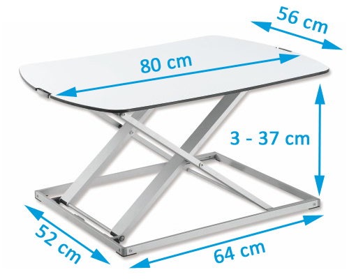 elevador de escritorio de trabajo remoto sentarse soporte convertidor de escritorio