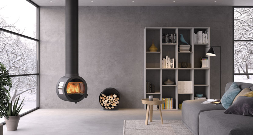 """The """"Me"""" fireplace from Nordpeis gives your room a completely individual expression."""