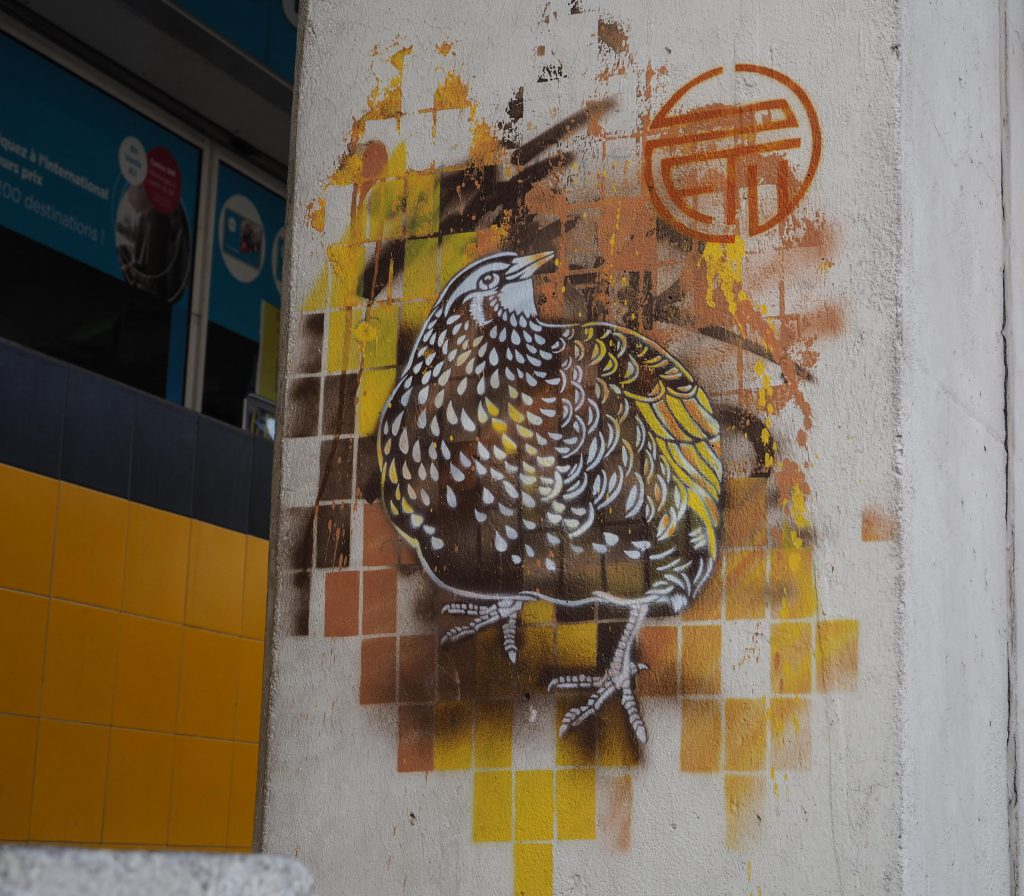 Vogel in Gelb/Braun von Stew