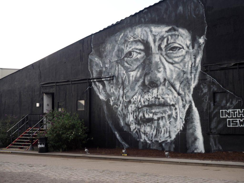 Mural eines alten Mannes