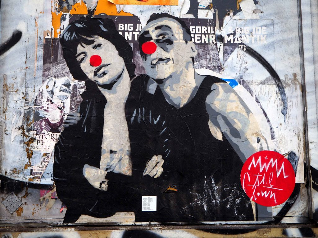 Mimi the Clown und Mick Jagger als Clown