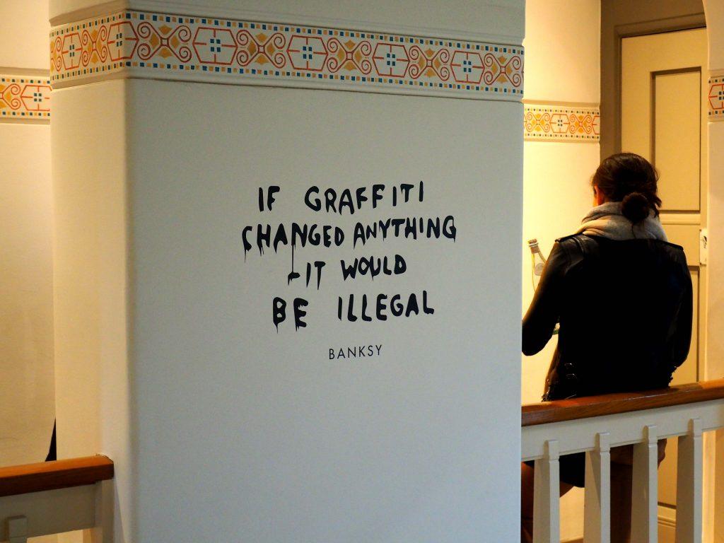 Wenn Graffiti etwas ändern würde, dann wäre es verboten