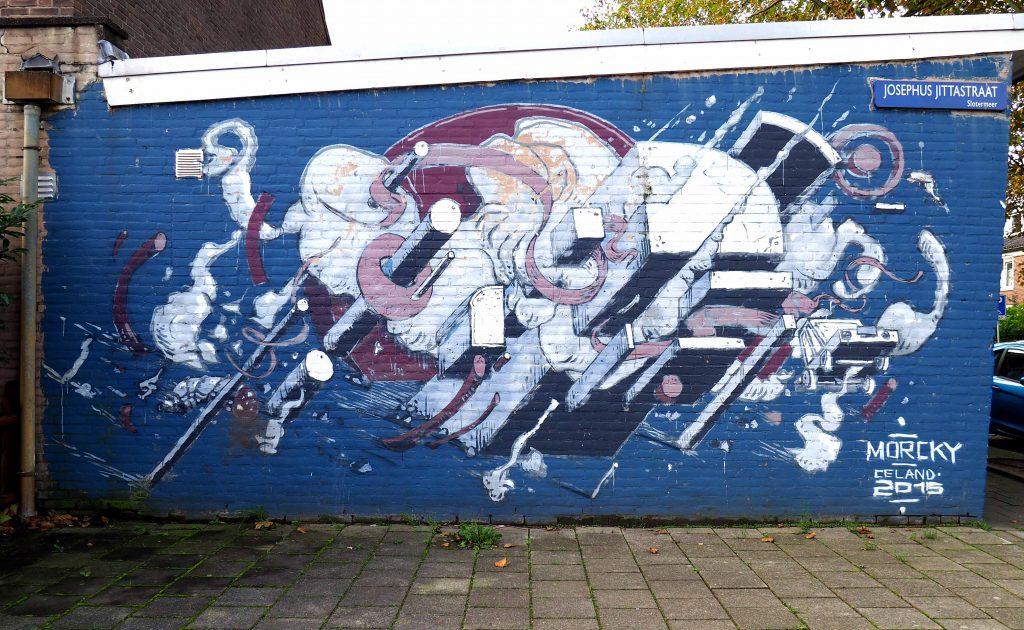 abstraktes Mural