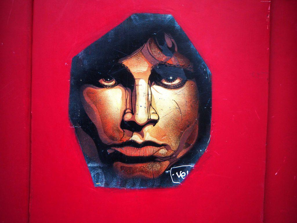 Stencil von Jim Morrisson