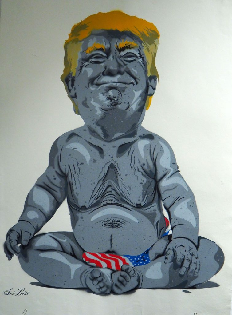 Donald Trump in Windeln