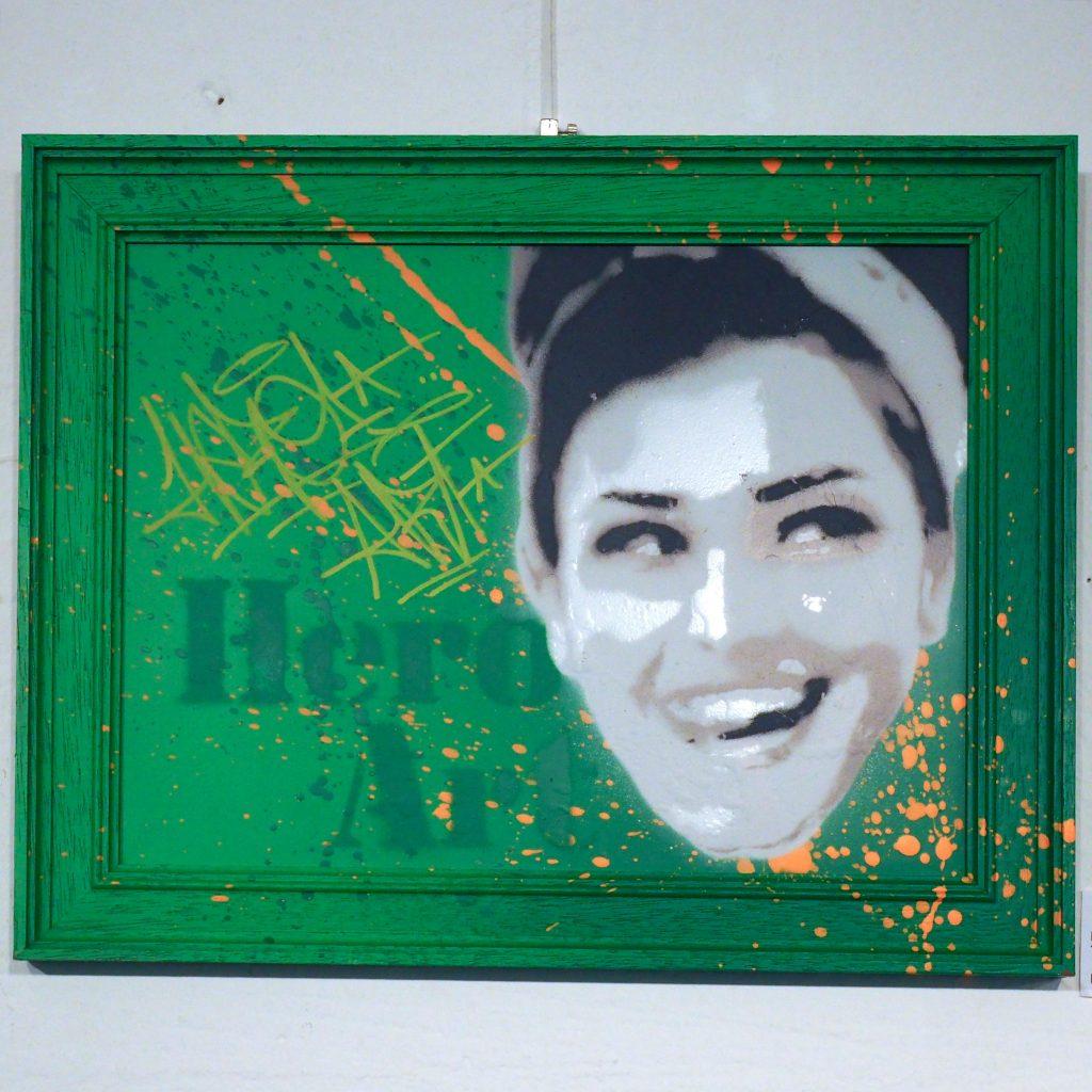 Portrait auf Grün