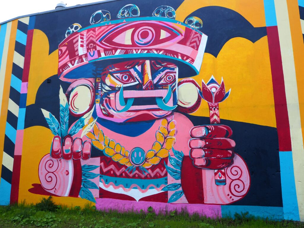 lateinamerikanisch angehauchtes Mural