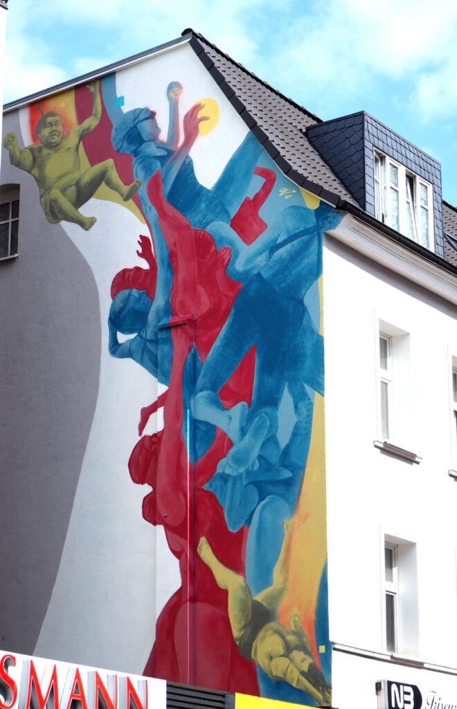 sportliches Mural