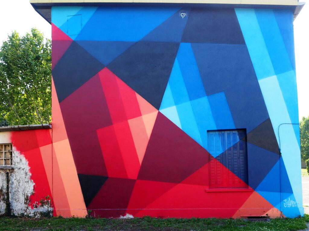 abstraktes Mural von 2021