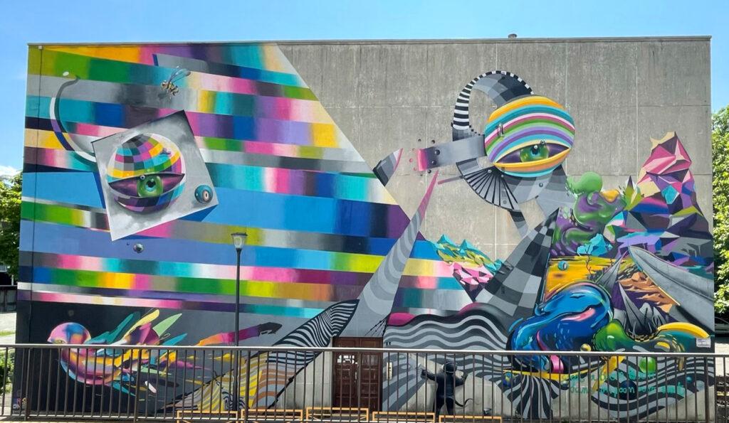 buntes Mural