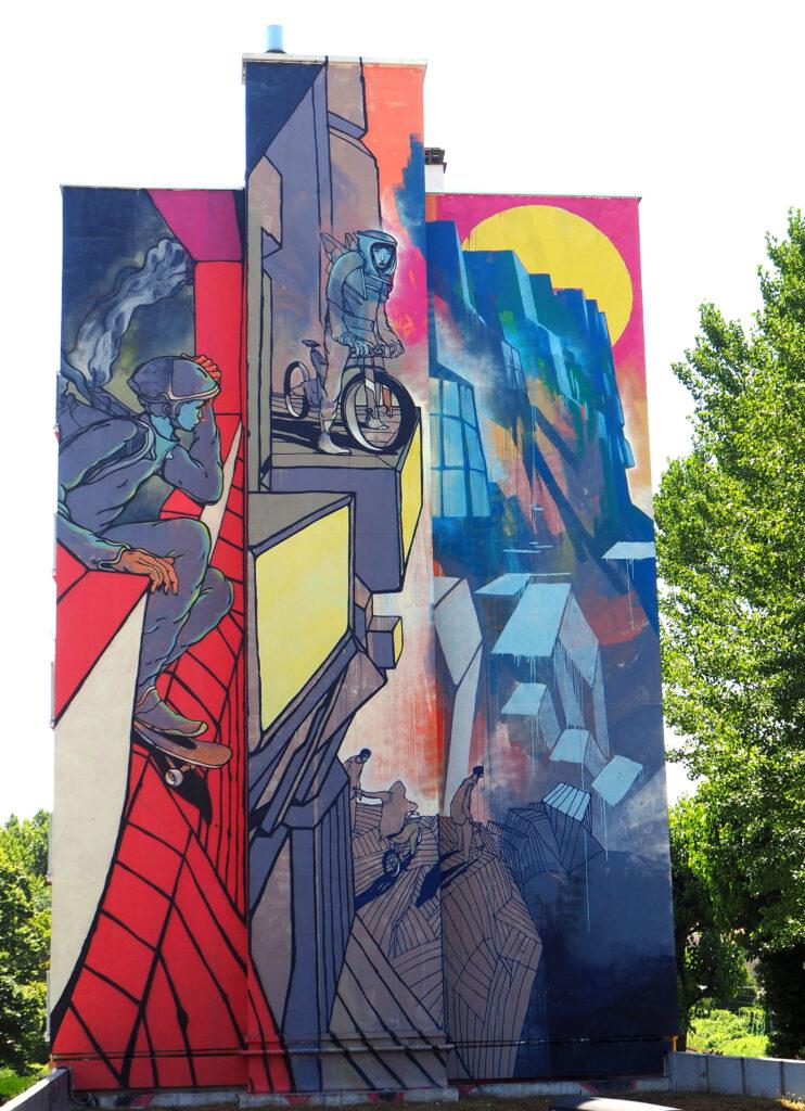 Mural mit Bergen