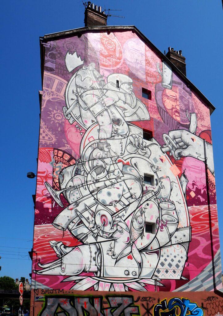 Mural in Pink von 2017