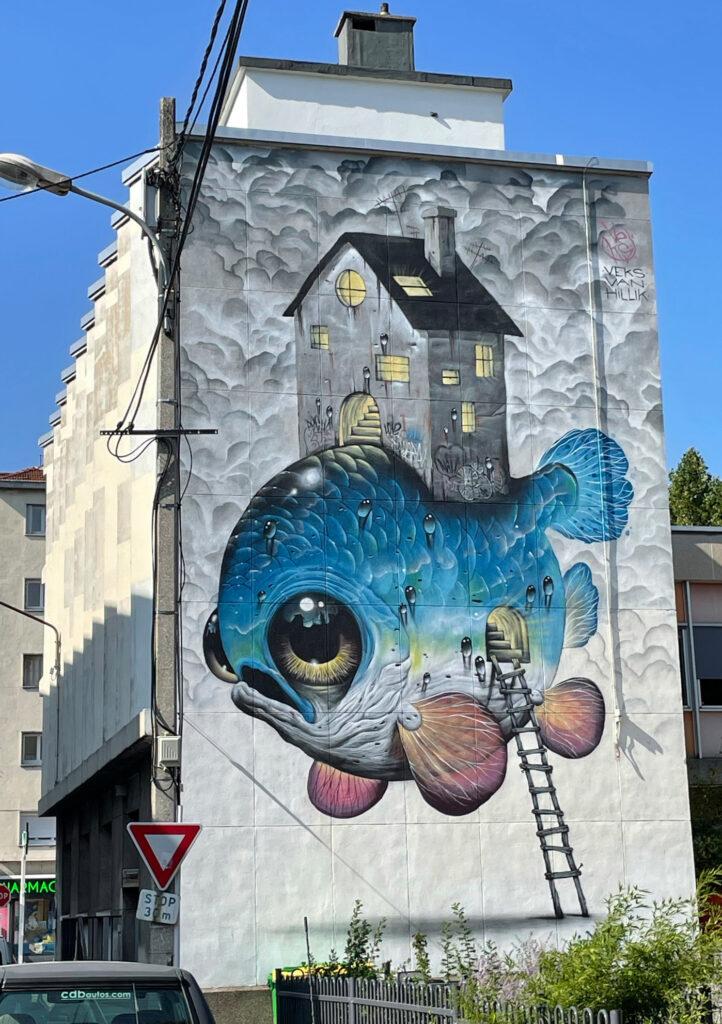 Fisch mit Haus