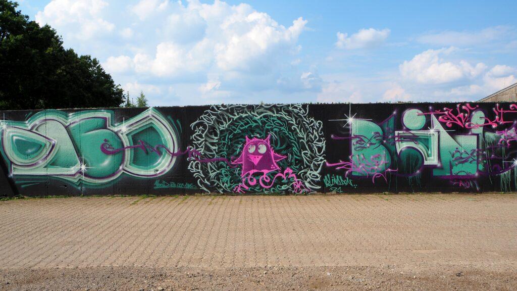 Graffiti mit Eule