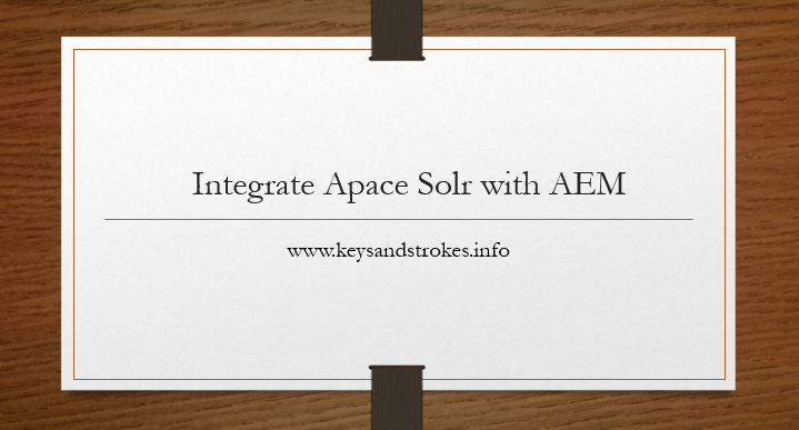 Apache sole integration with aem