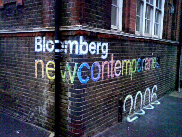 Bloomberg Chalk Sign Our signwriter will write a Sign on your building that catches the eye of passers by & can be effective adverts for your business.Call today for a quote from E-Signs London.