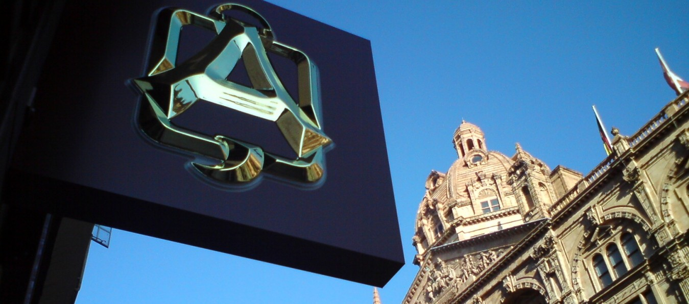 Built up letters made and installed by www.e-signs.co.uk for Alquershi opposite Harrods London